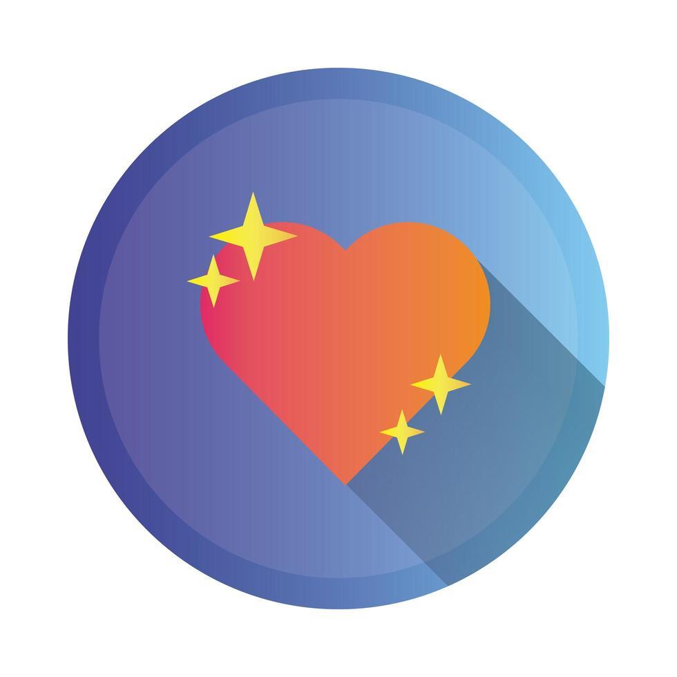 Herz Liebe detaillierte Stilikone vektor