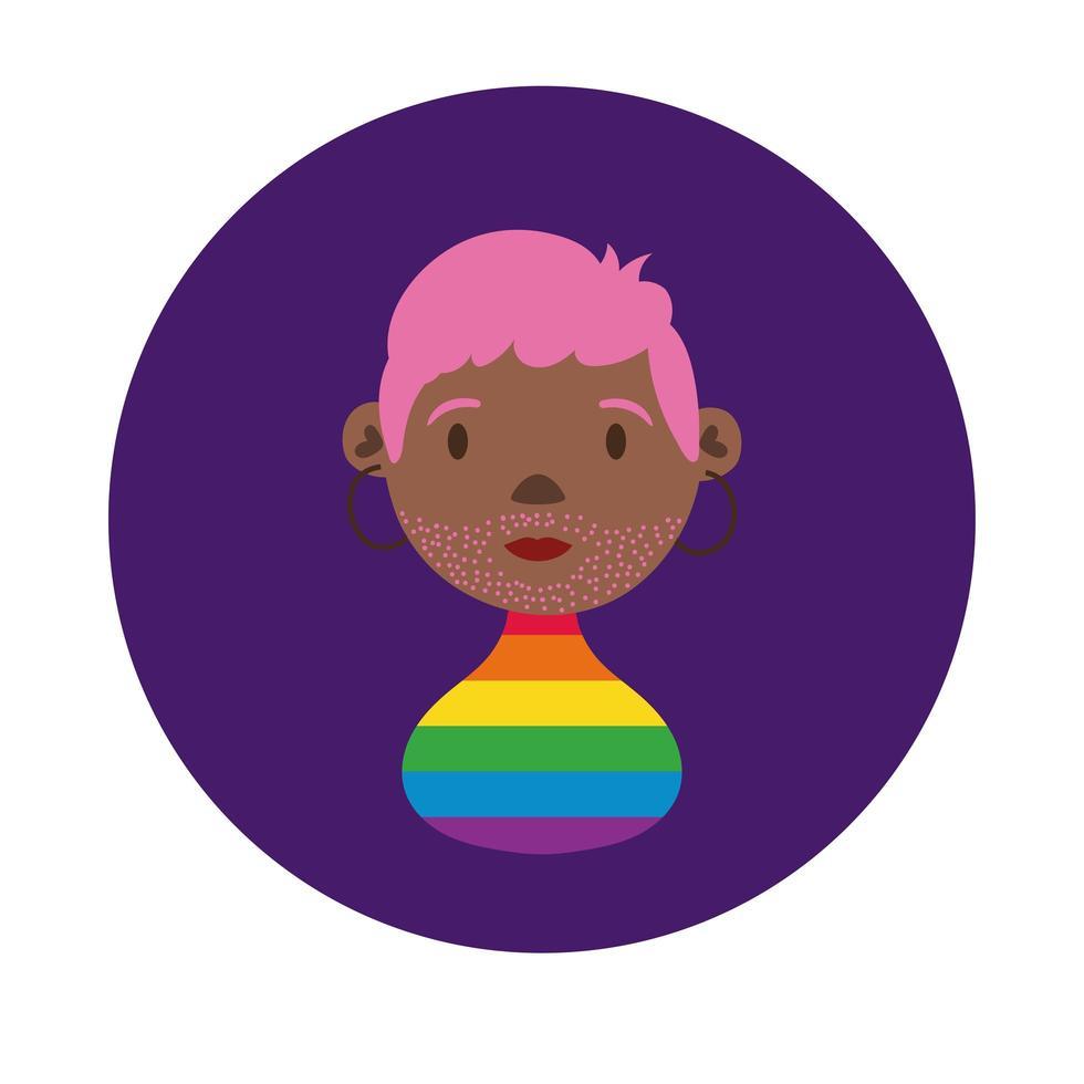 schwarze Lesben Charakter Homosexuell Stolz Block-Stil vektor