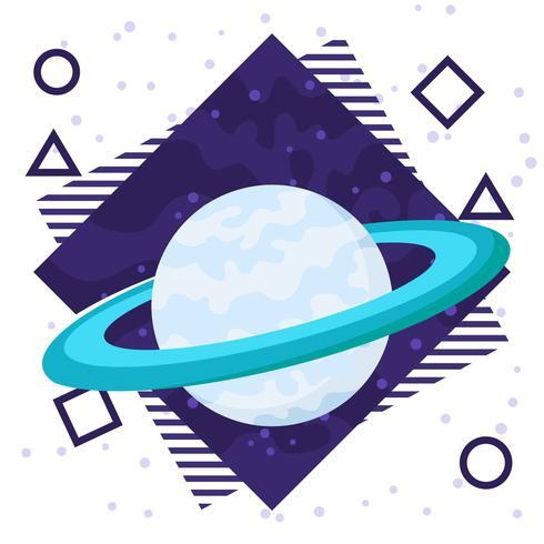 Saturn Planet Plane Bakgrund vektor