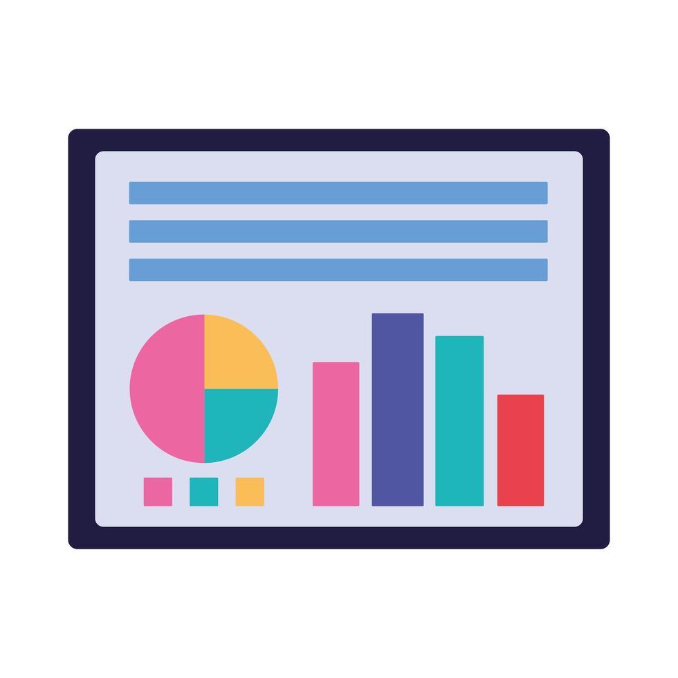 isolierter Workflow und Infografik-Design vektor