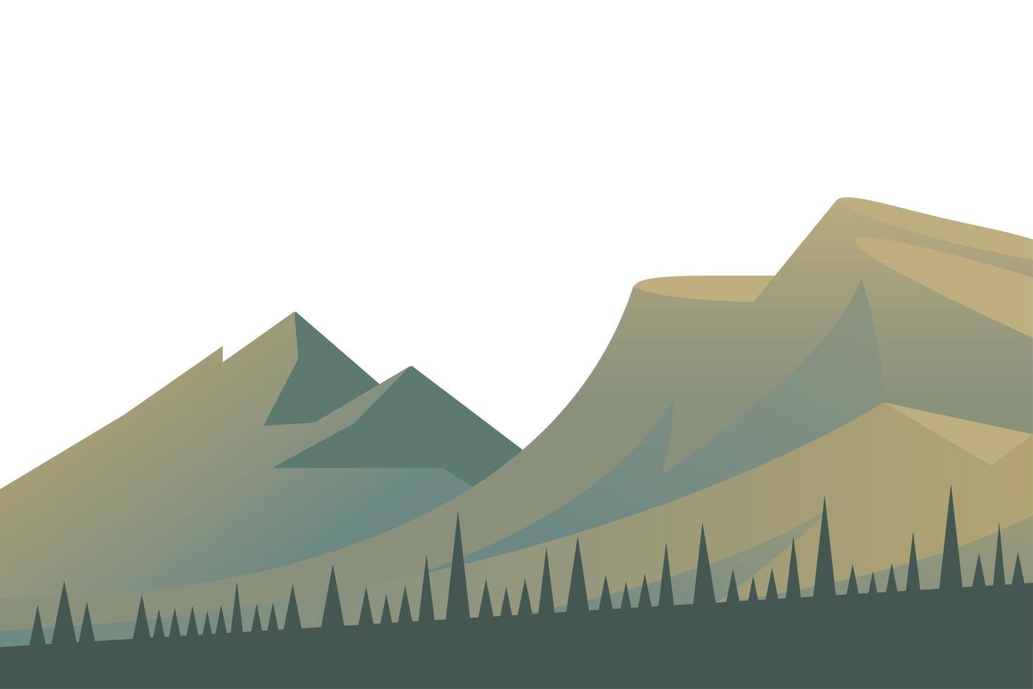 vacker landskap scen med berg vektor