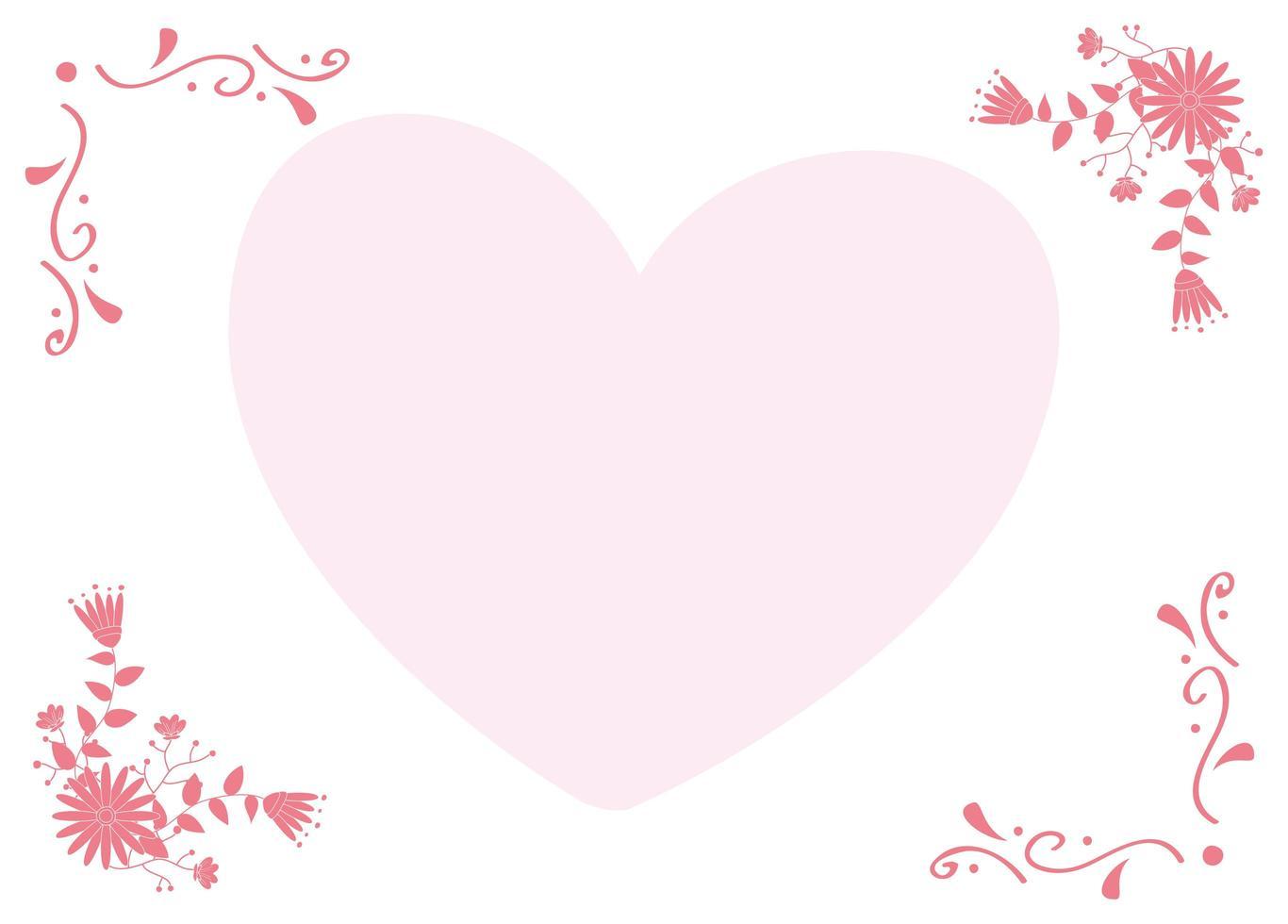 kärlekshjärta med dekorativ ram vektor