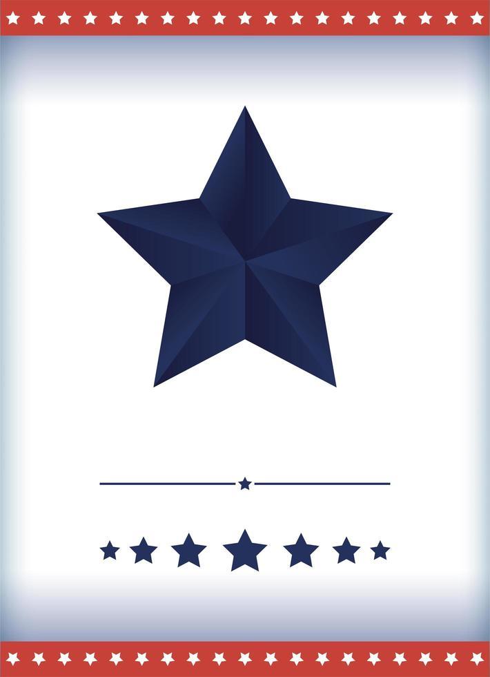 usa blå stjärna vektor design