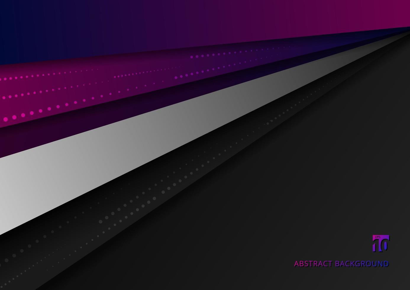 geometrische überlappende Dimensionsschichten des abstrakten rosa und blauen auf schwarzem Hintergrund. vektor