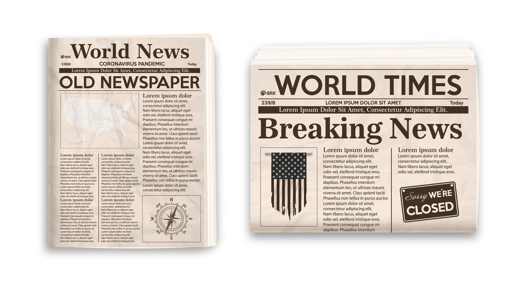 Altes Zeitungslayout Vertikales Und Horizontales Modell Von Zeitungen Lokalisiert Auf Weissem Hintergrund Download Kostenlos Vector Clipart Graphics Vektorgrafiken Und Design Vorlagen