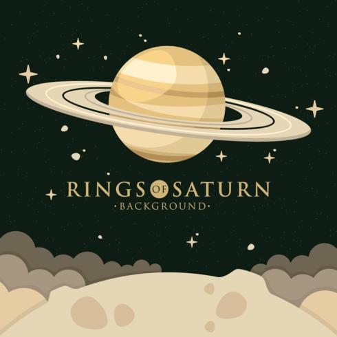 Ringe von Saturn Hintergrund vektor