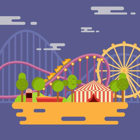 Nöjespark Vector Illustration