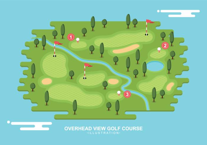 Översikt över golfbanan vektor