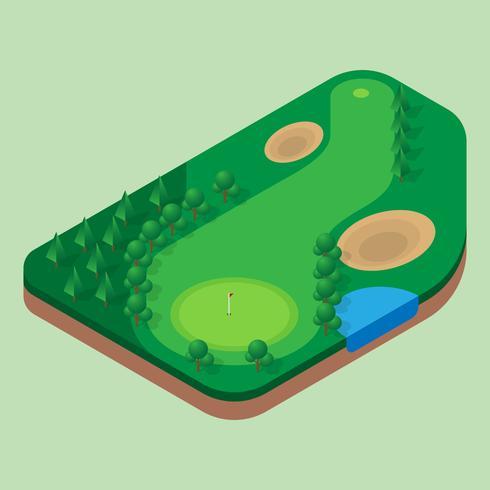 Golfbanan Flygfoton vektor