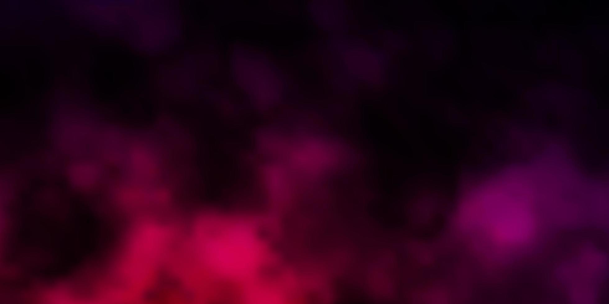 mörk lila vektor bakgrund med moln.