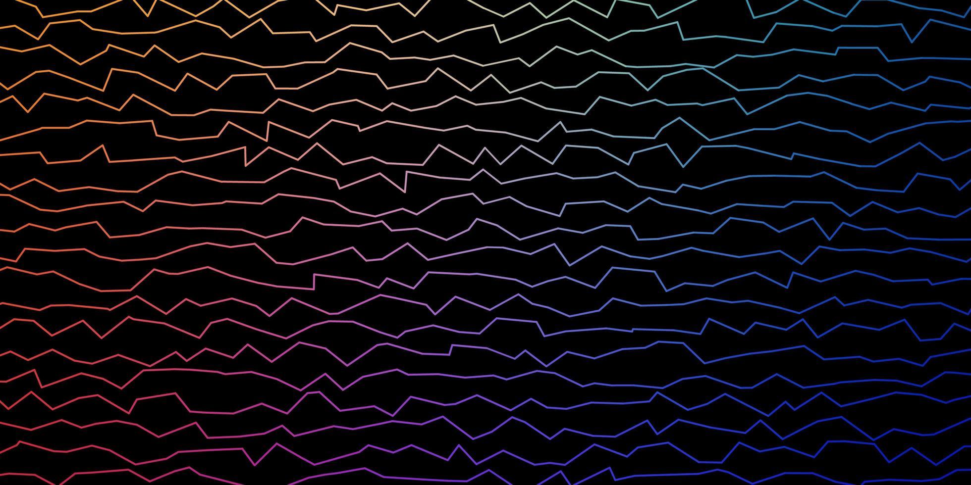 mörk flerfärgad vektorlayout med kurvor. vektor