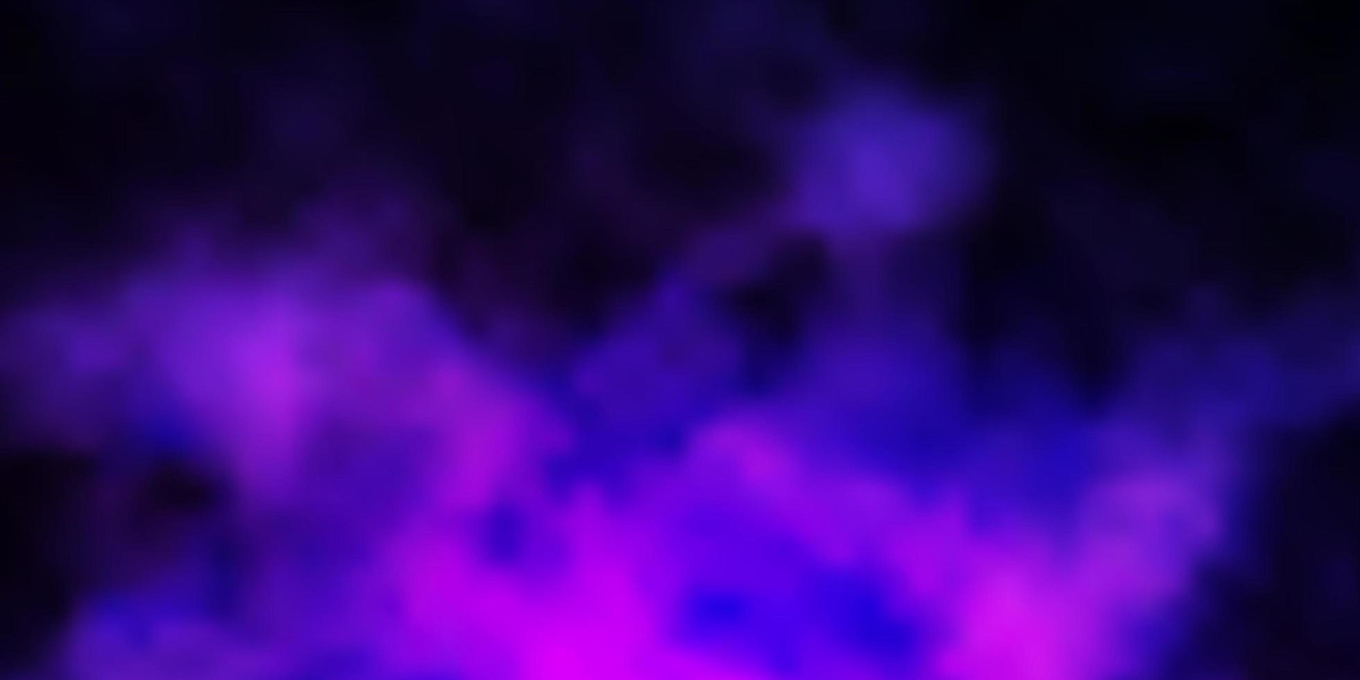 ljuslila vektor mönster med moln.