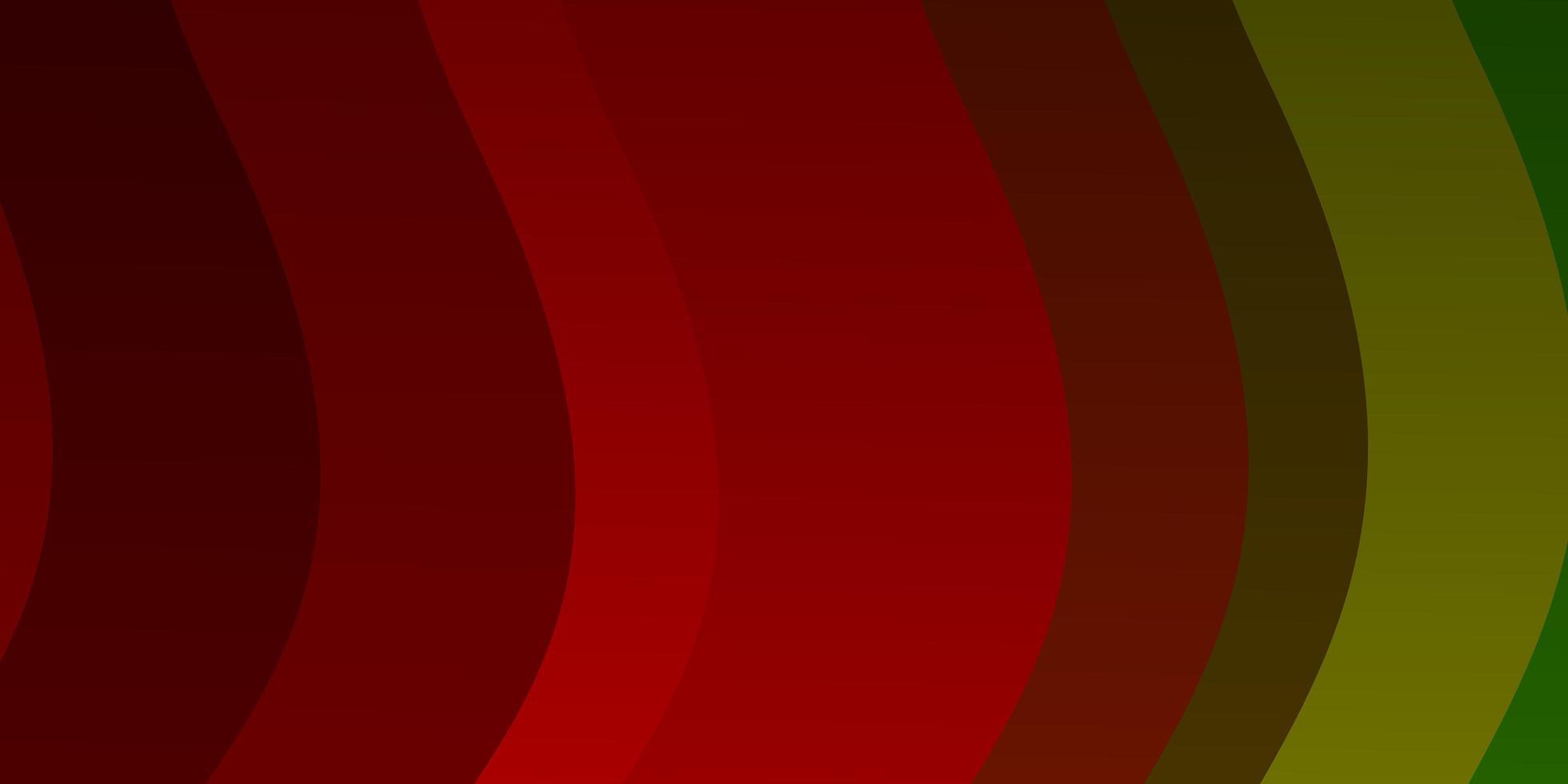 mörk flerfärgad vektorbakgrund med böjda linjer. vektor
