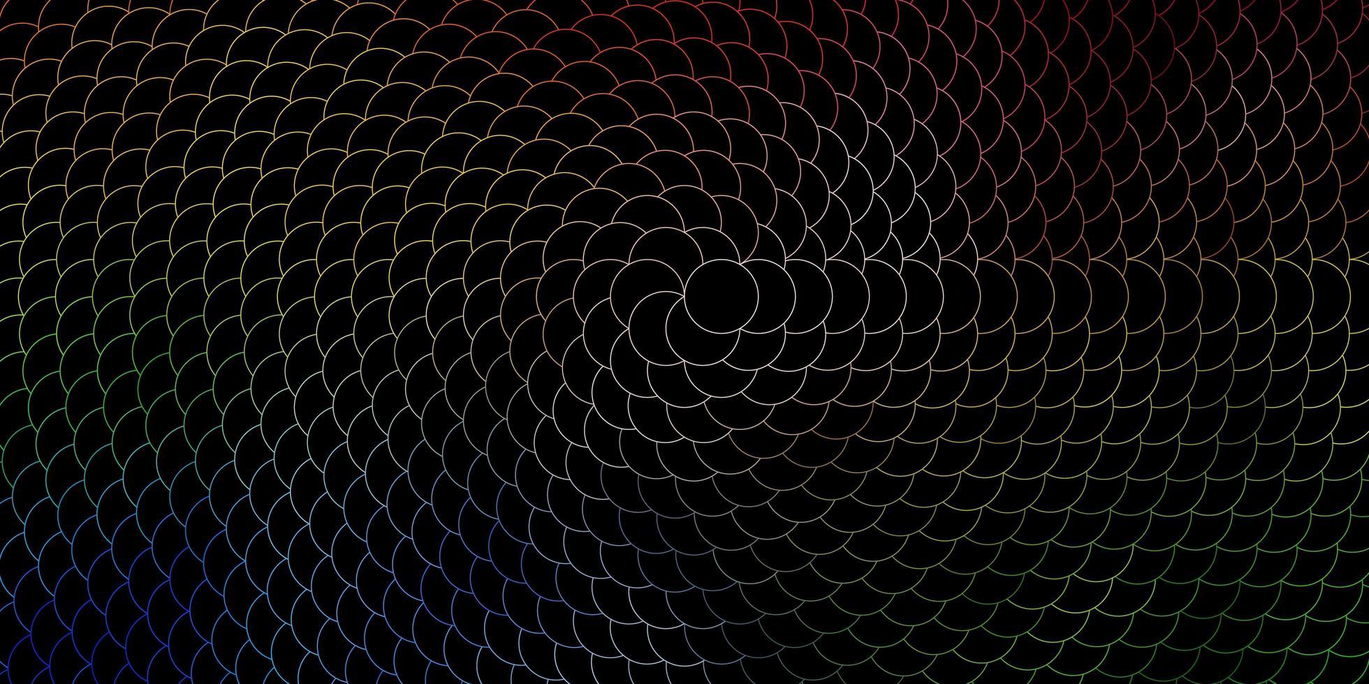 dunkle mehrfarbige Vektortextur mit Scheiben. vektor