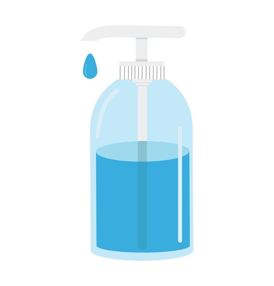 Händedesinfektionsmittelpumpenflaschenvektor vektor