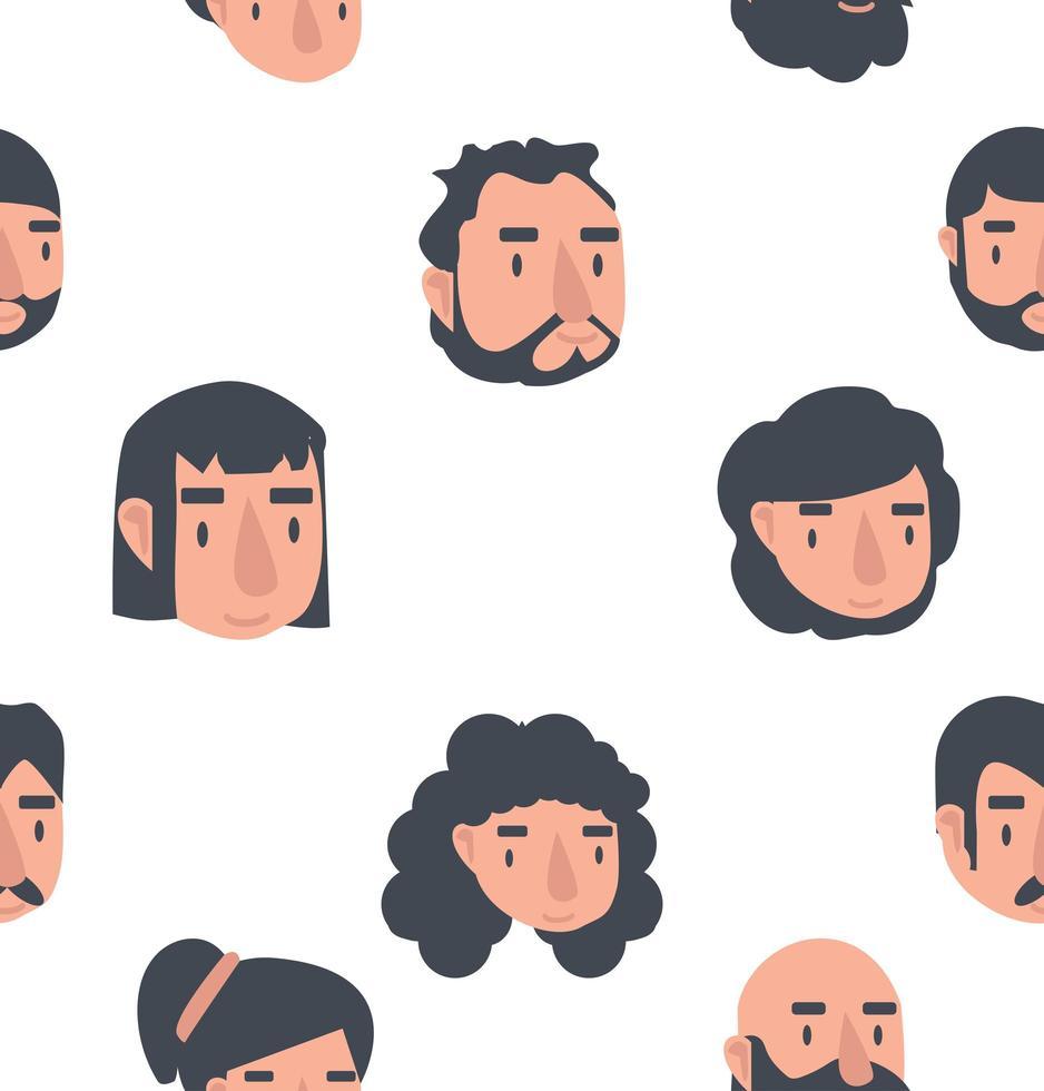 avatar står inför sömlös bakgrund vektor