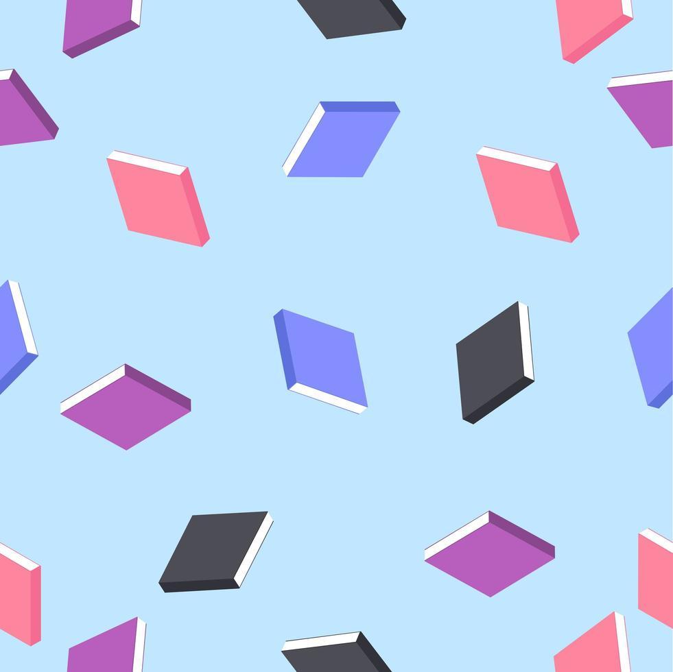 sömlös bakgrund med böcker vektor
