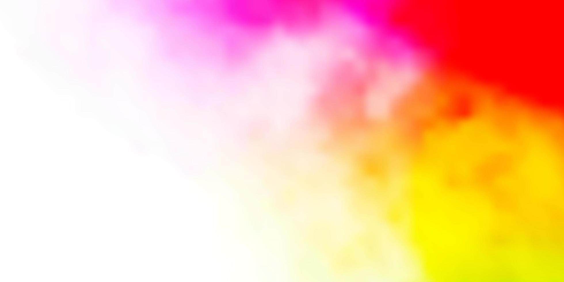 leichtes mehrfarbiges Vektorlayout mit Wolkenlandschaft. vektor
