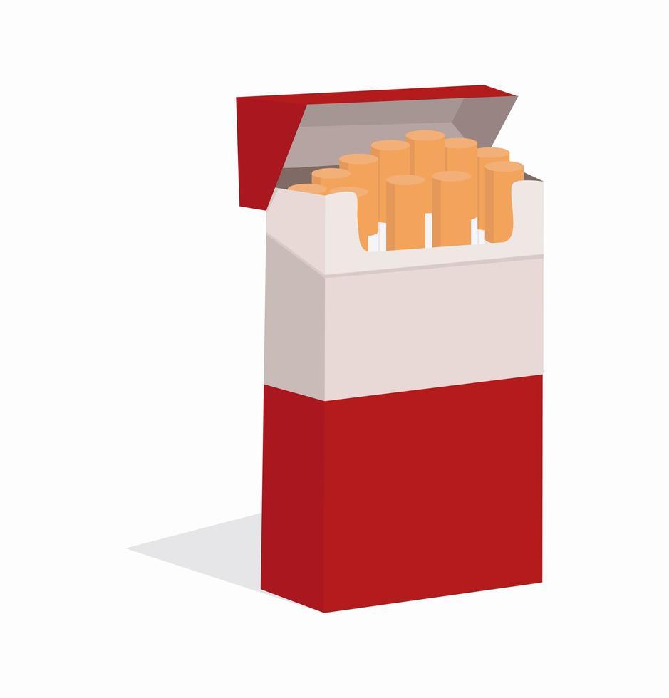 öppna rött cigarettpaket vektor