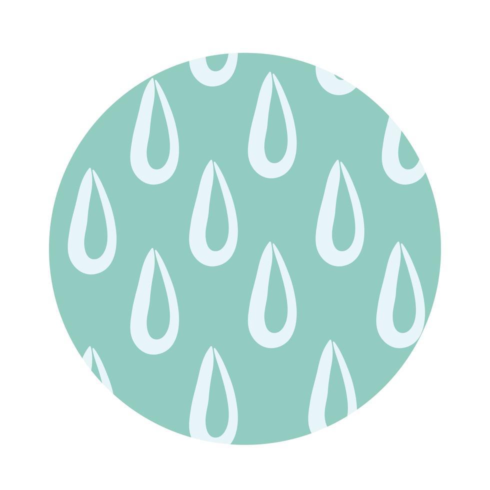 vatten droppar organiska mönster block stil vektor