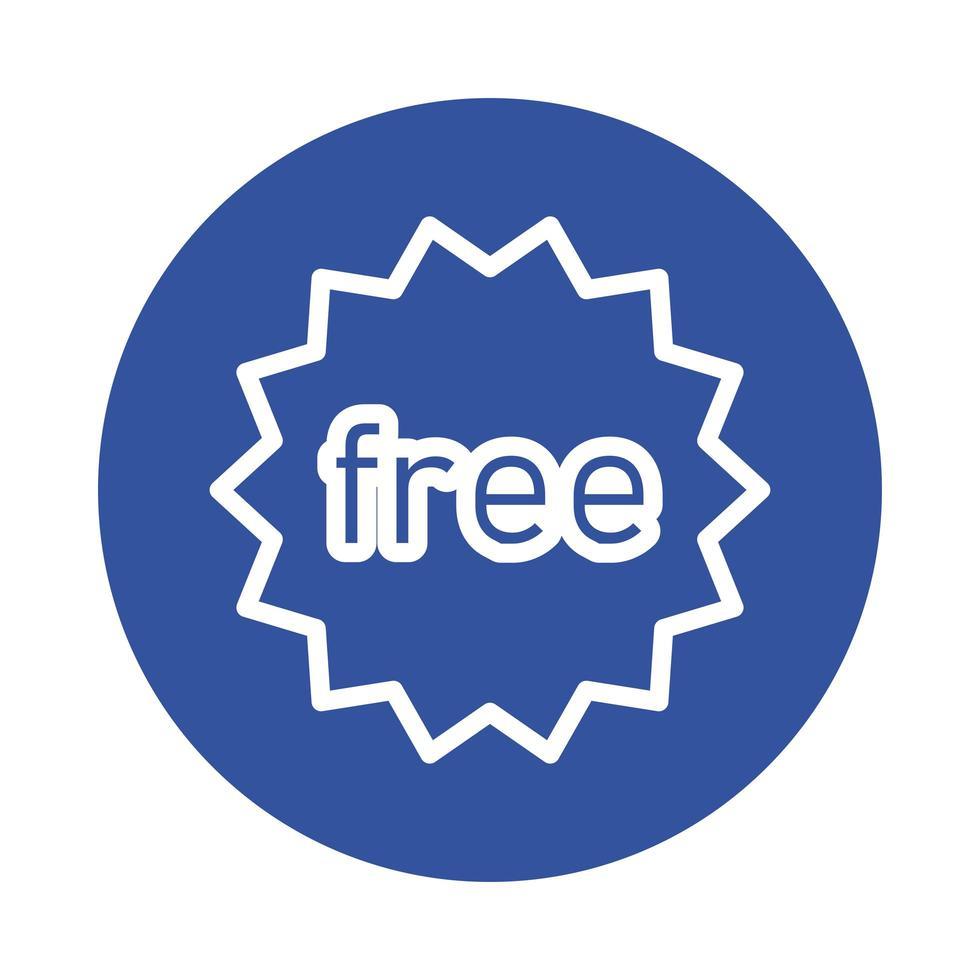 gratis kommersiell tätningsblock stilikon vektor
