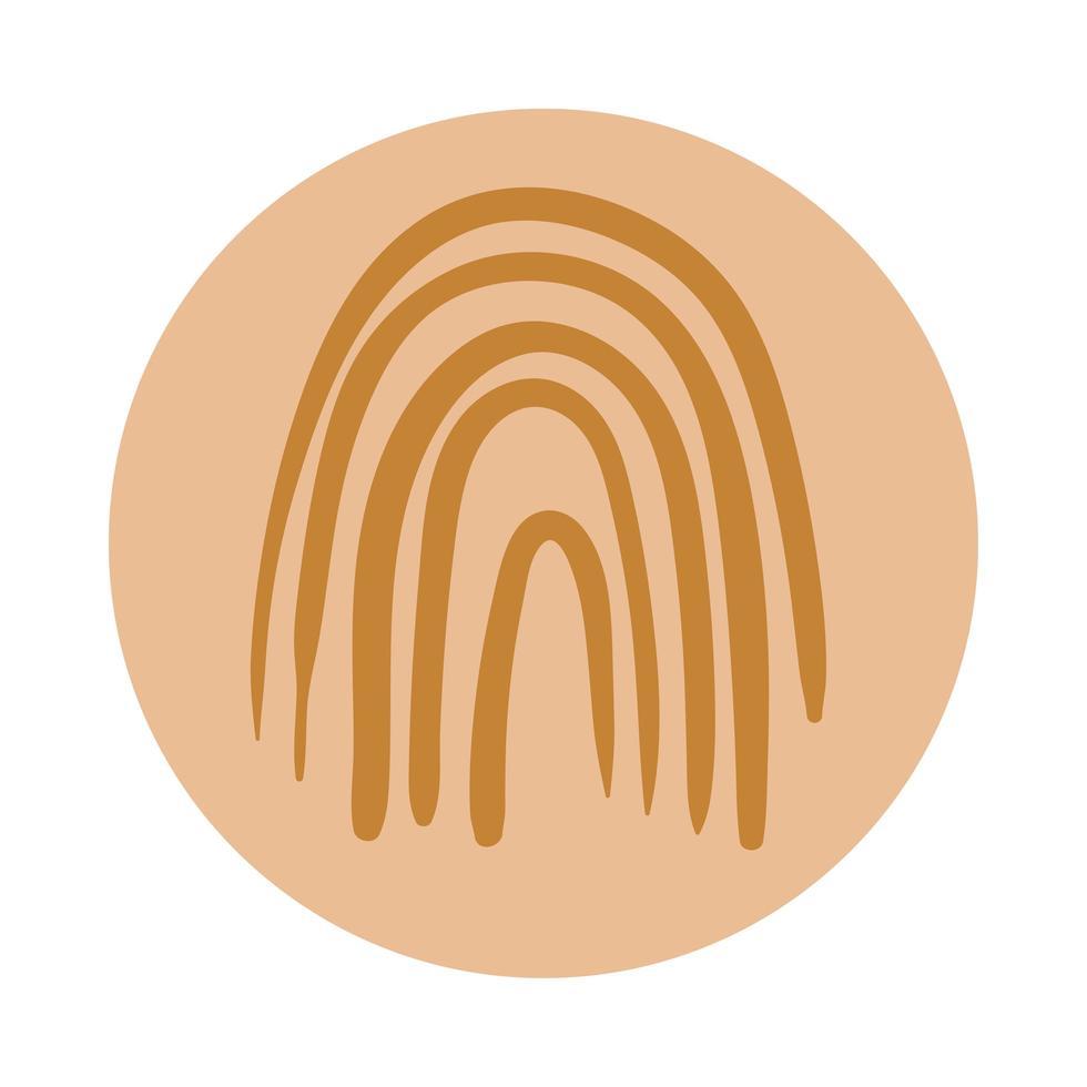 fingeravtryck boho handdragstil vektor