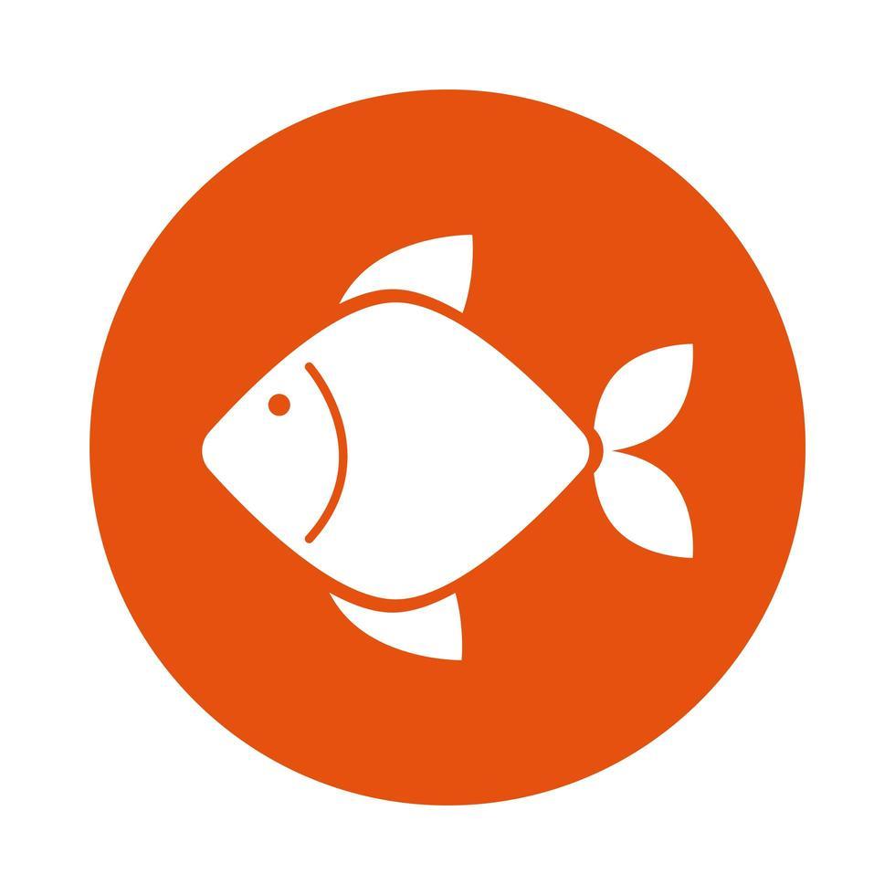 utsökt fisk hälsosam mat vektor