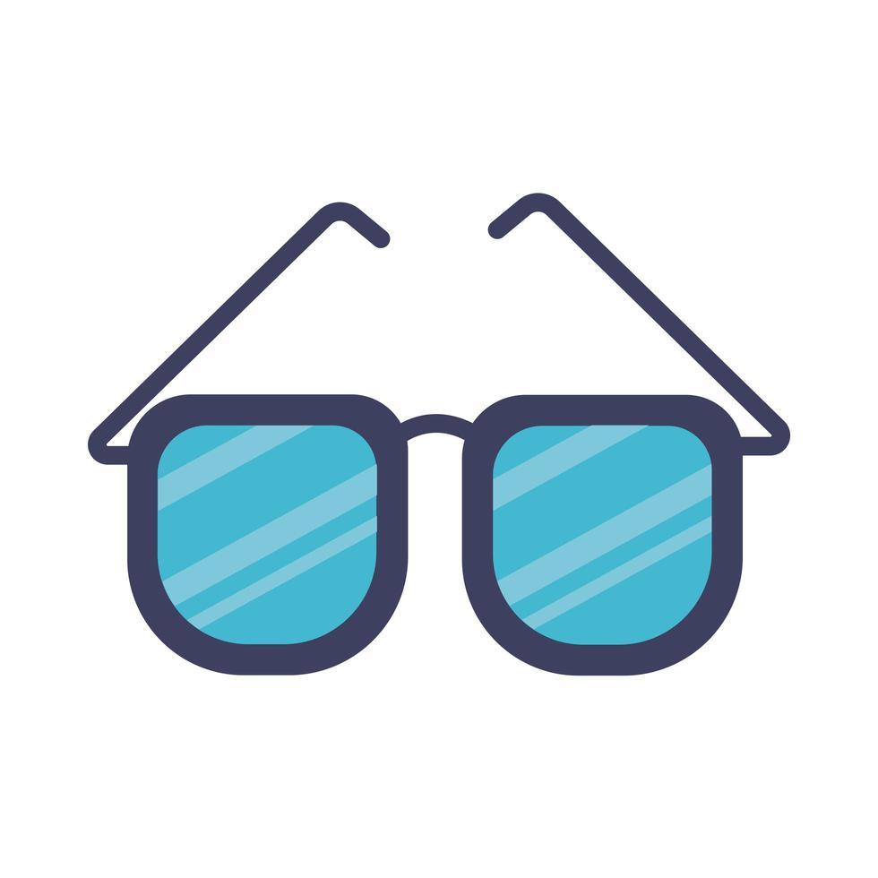 glasögon platt stilikon vektor