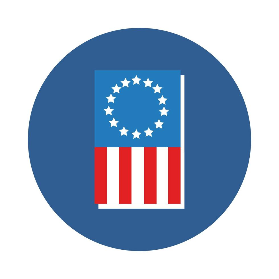 USA-Flaggenblockart-Vektorillustrationsdesign vektor
