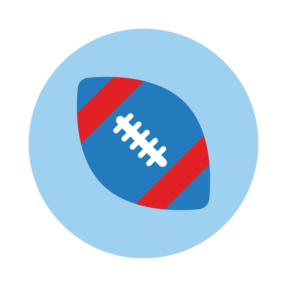 fotboll amerikansk sport ballong block stil vektor