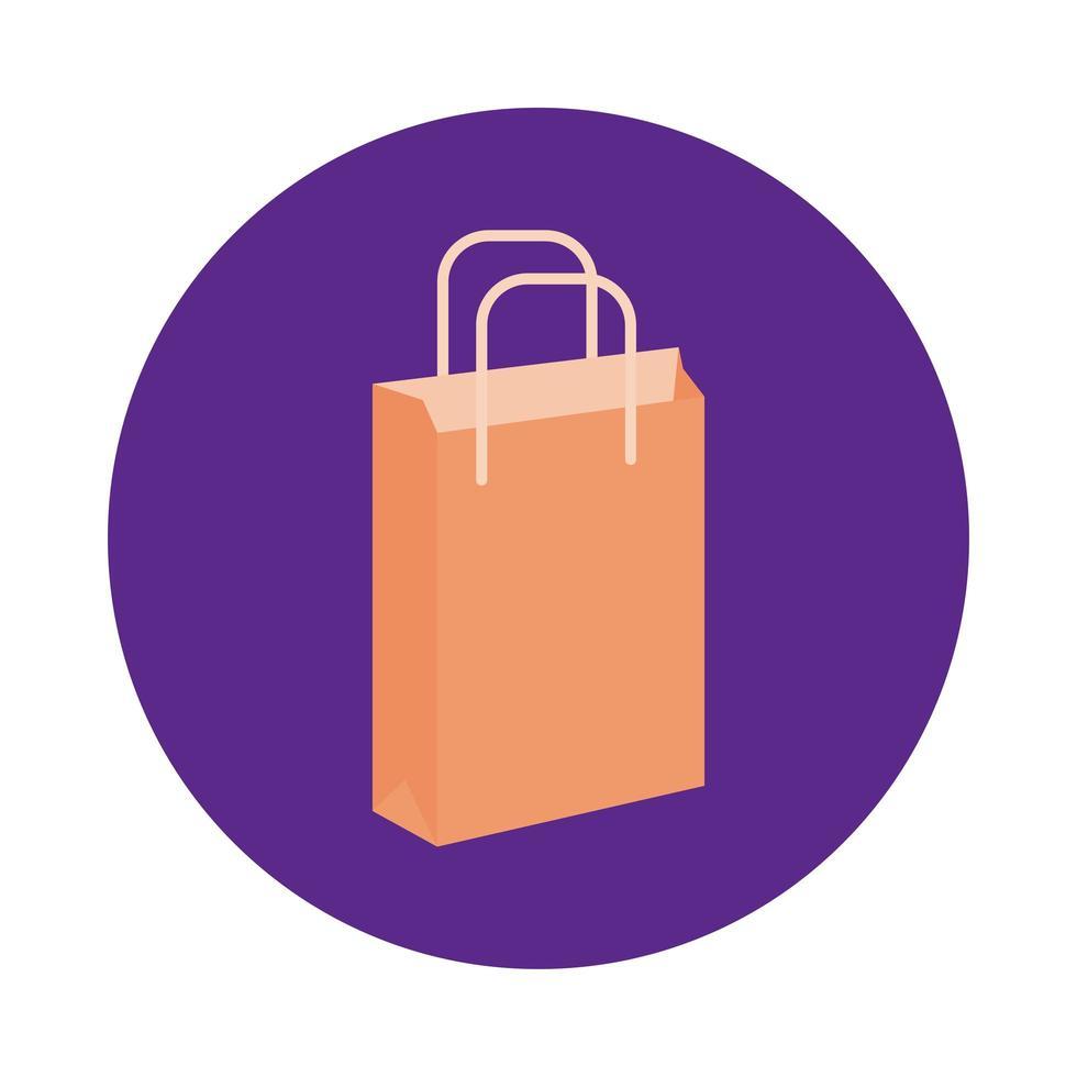 papper shopping väska block stil vektor