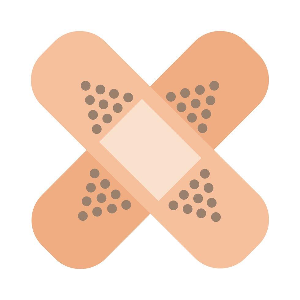 Bandagen flache Stilikone heilen vektor