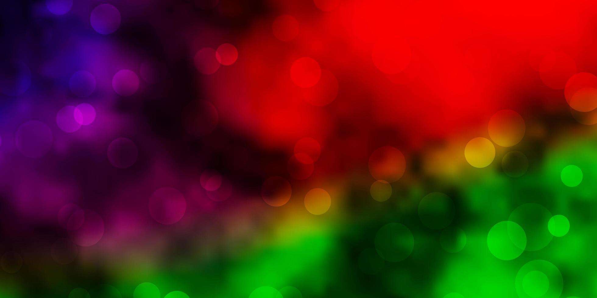 mörk flerfärgad vektorlayout med cirklar. vektor