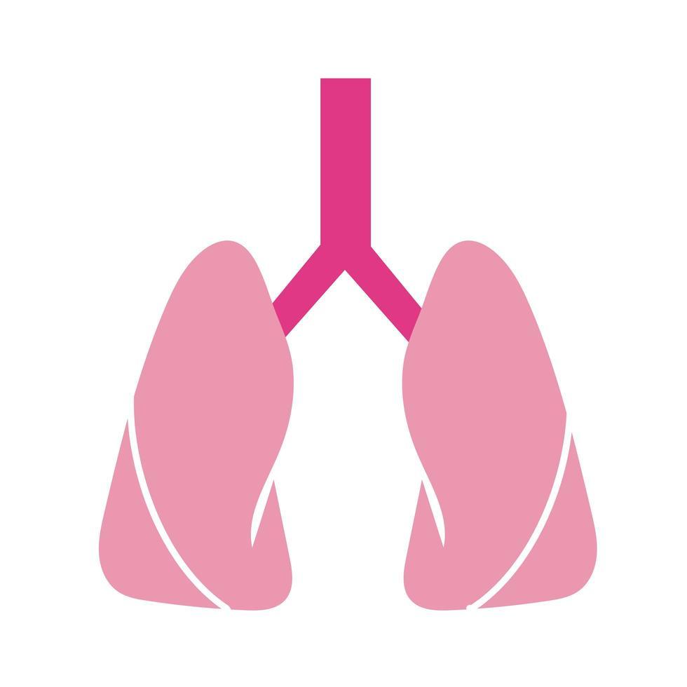 flache Stilikone des menschlichen menschlichen Organs vektor