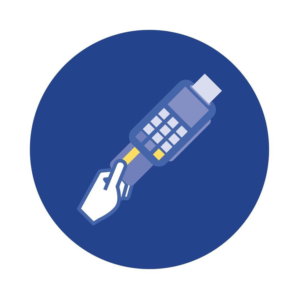 kreditkort med kupongblock och platt stilikon vektor