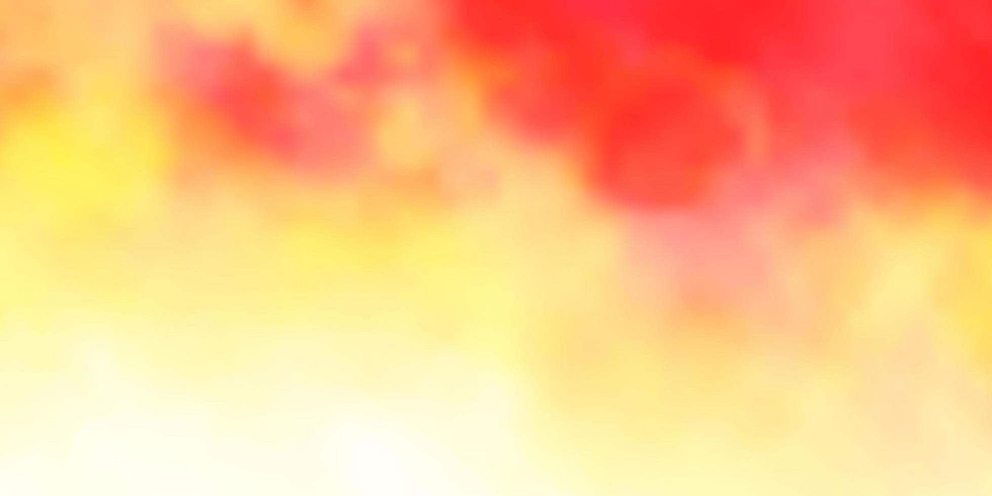 ljus orange vektor bakgrund med cumulus.
