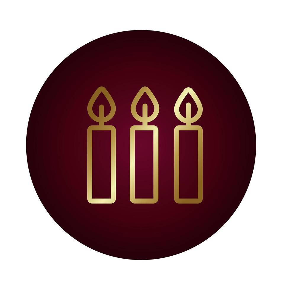 Kerzenfeuer Flammenblock Farbverlauf Stil vektor