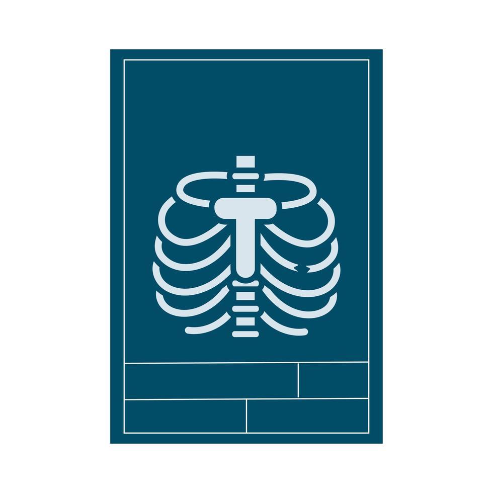 röntgen medicinsk platt stilikon vektor