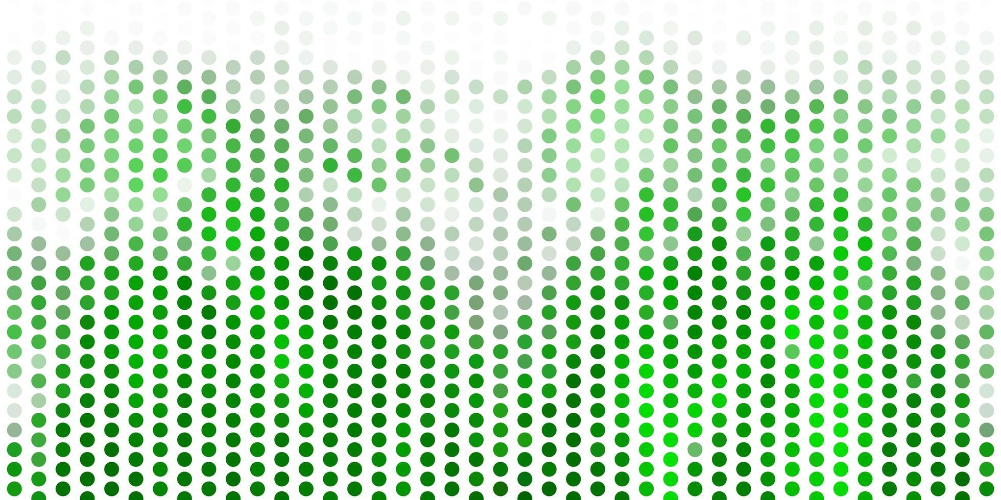 hellgrünes Vektorlayout mit Kreisformen. vektor