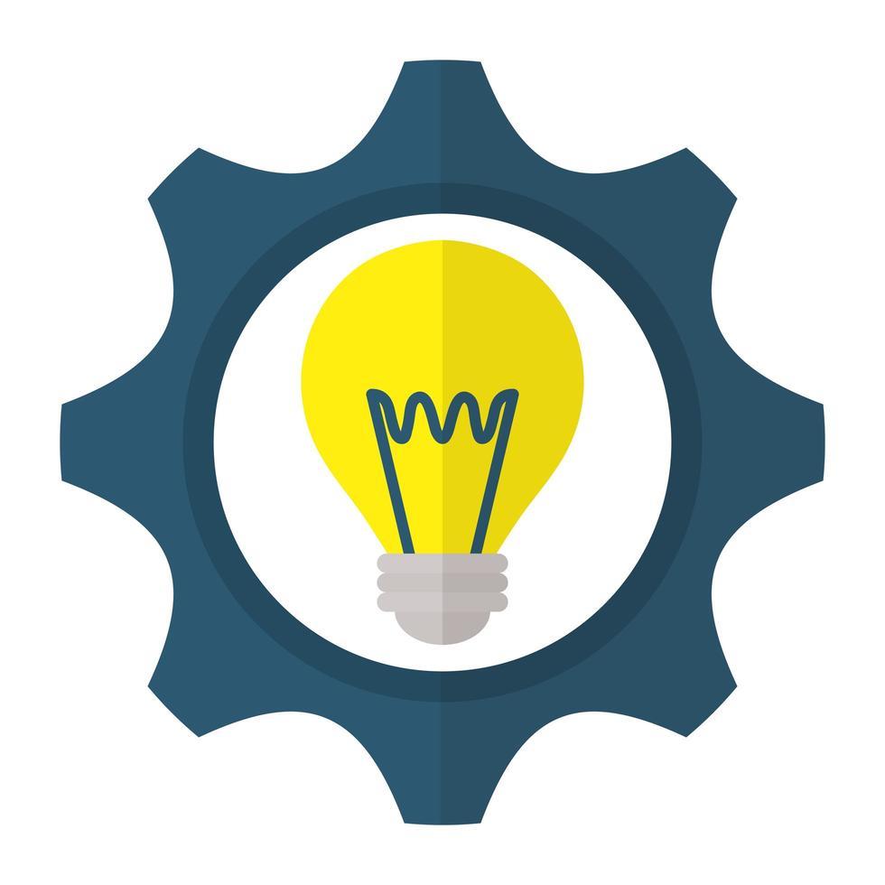 isolerad design av elektrisk glödlampa vektor