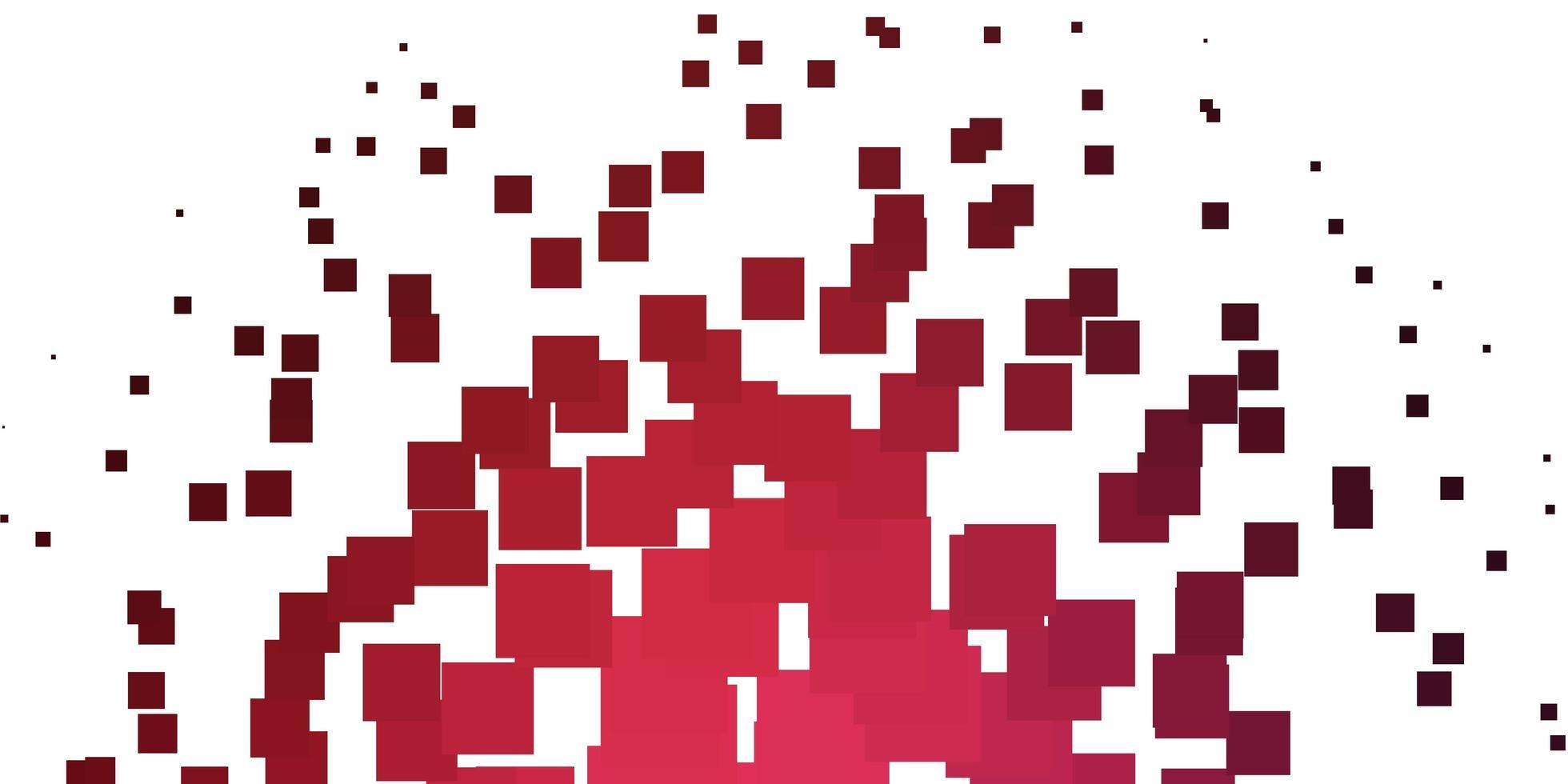 hellrosa, rotes Vektorlayout mit Linien, Rechtecken. vektor