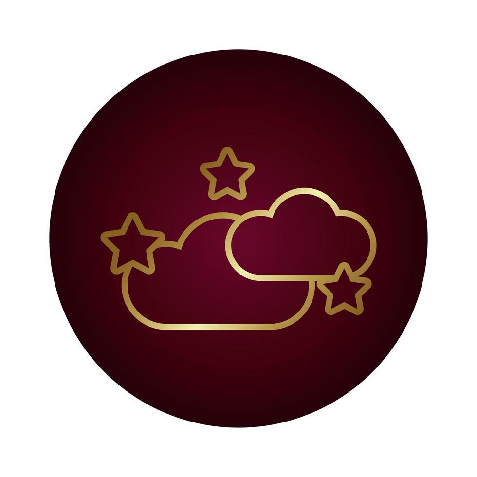 moln med stjärnor blockera lutningsstilikon vektor