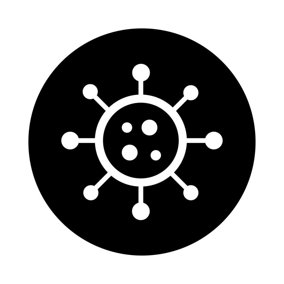 covid19 Partikelgesundheit Piktogramm Blockstil vektor