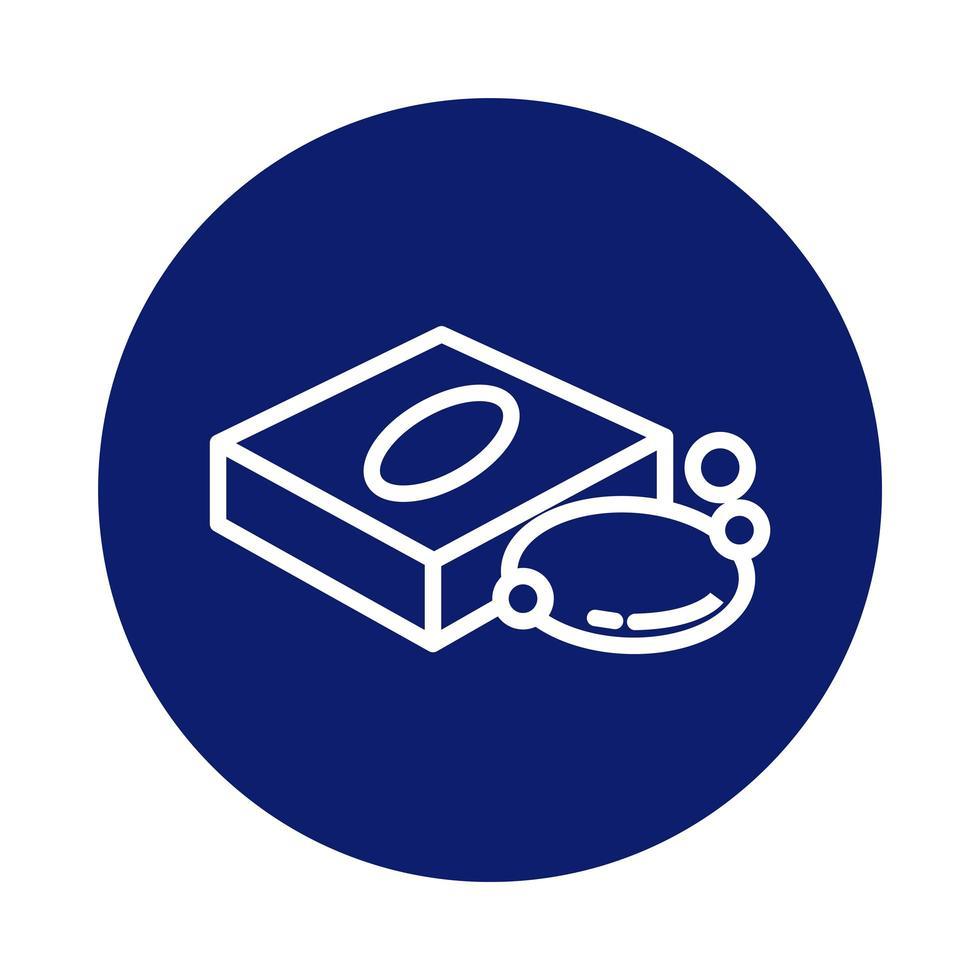 Seifenstück in Packbox Block Style Icon vektor