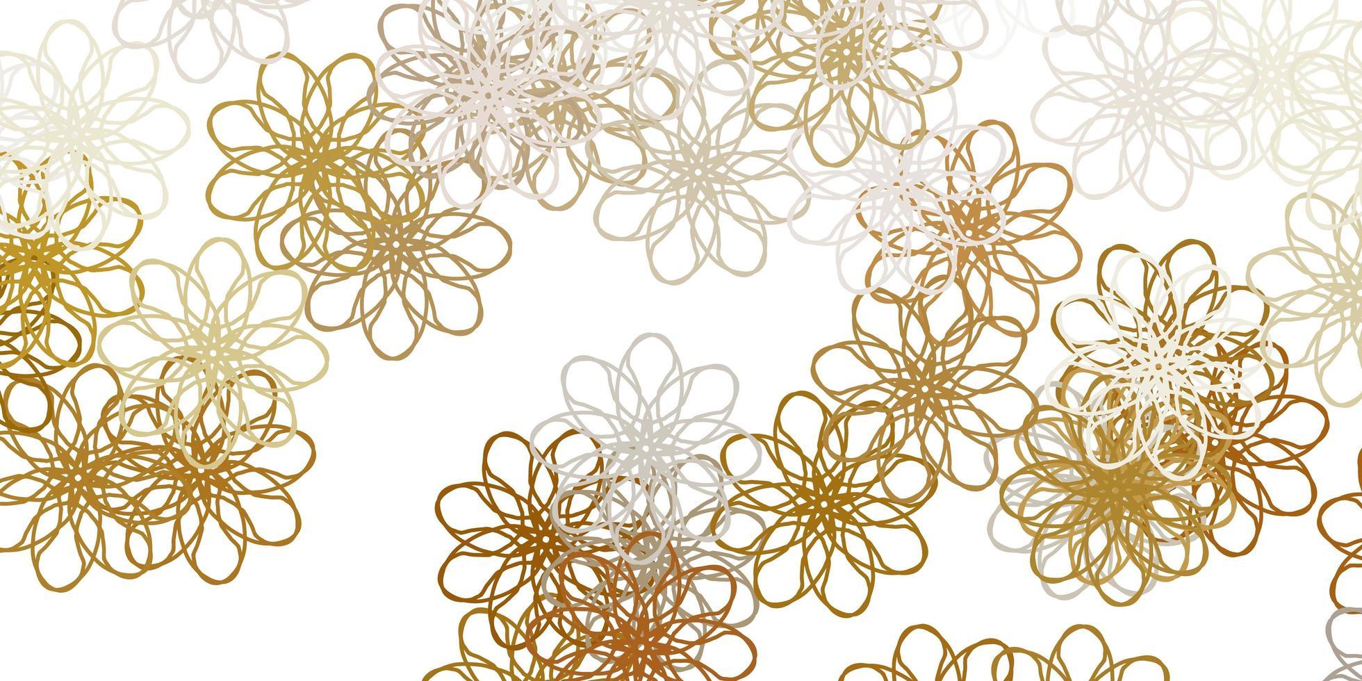 hellgraues Vektor-Gekritzelmuster mit Blumen. vektor