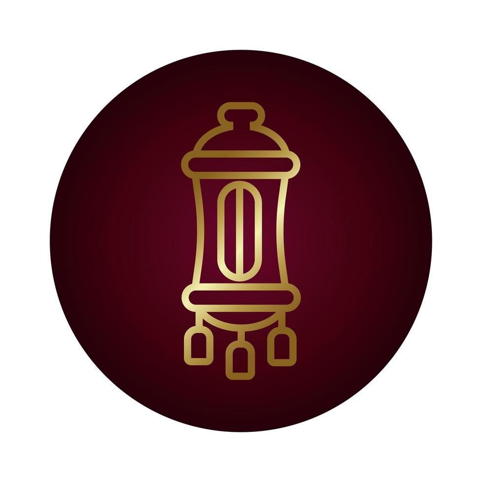 Ramadan Kareem Lampe Block Gradient Stil Vektor-Illustration Design vektor