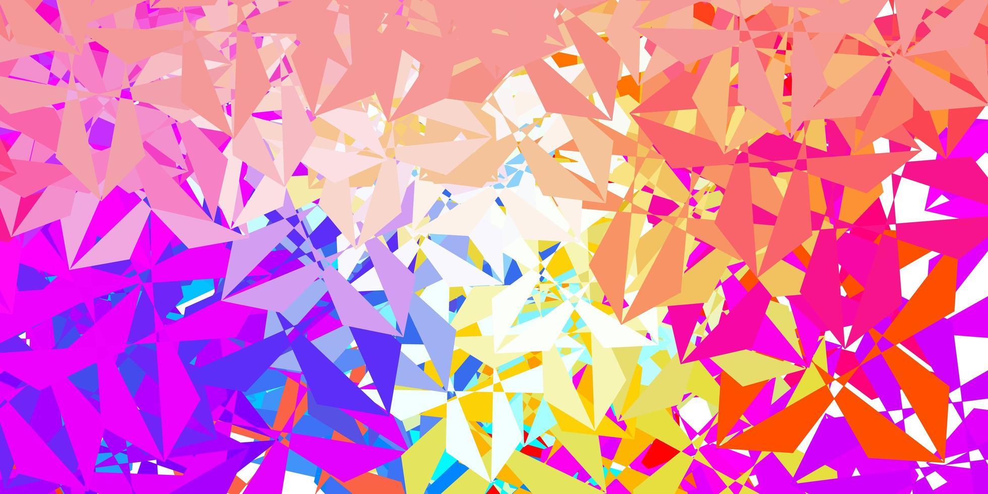 dunkelblaues, gelbes Vektor-Poly-Dreieck-Layout. vektor