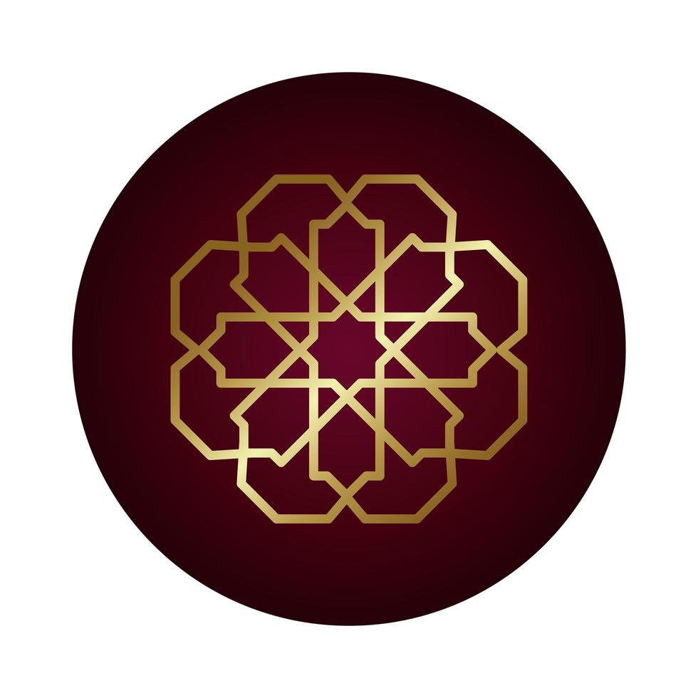 Ramadan Kareem dekorative Figur Block Farbverlauf Stil vektor