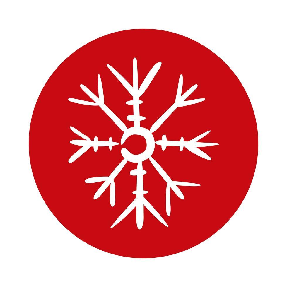 snöflinga is block stil ikon vektor