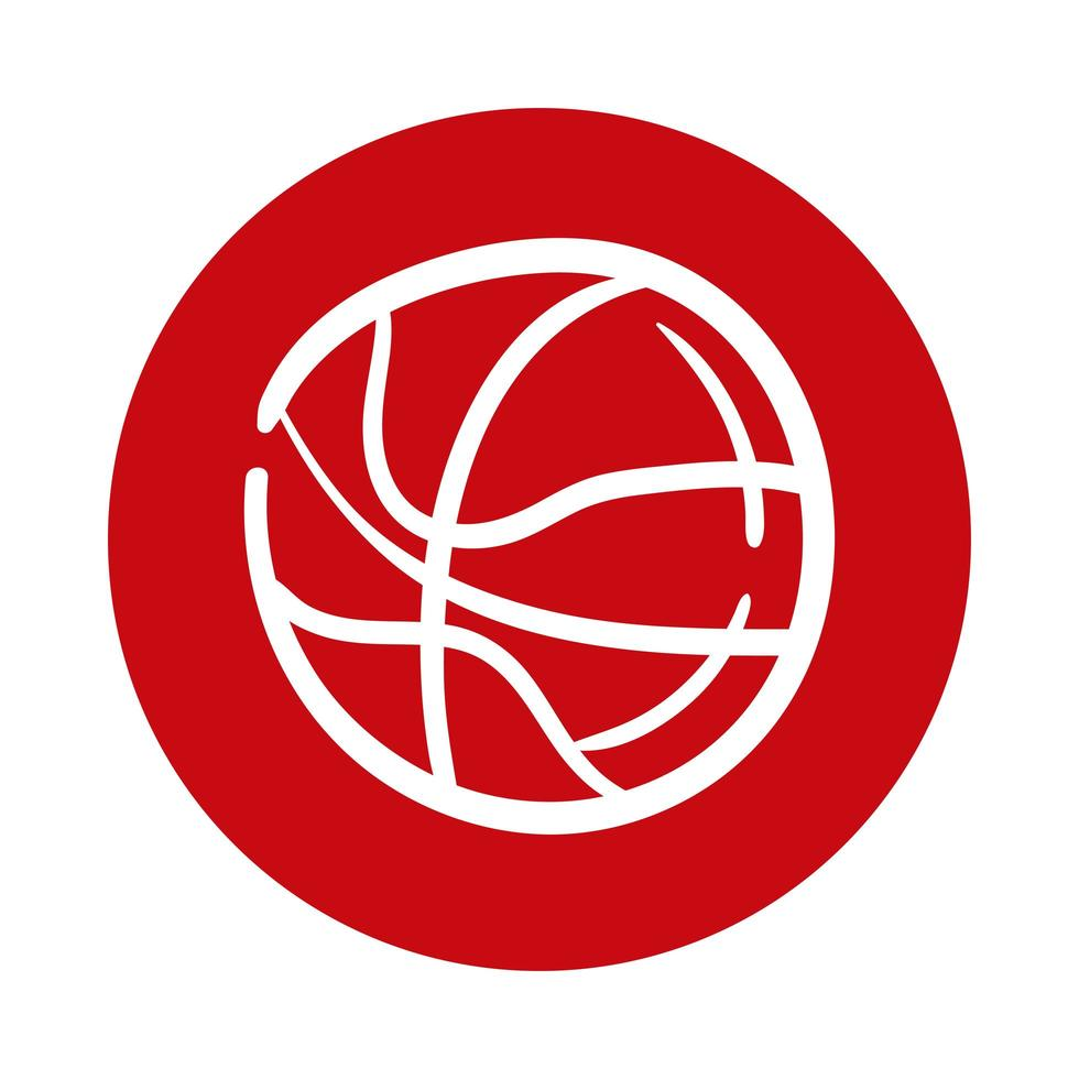 Basketball-Block-Stilikone vektor